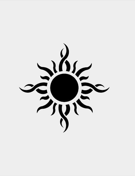 25 Scorching Sun Tattoo Design & Ideas   Silhouette Clip Art   Sun