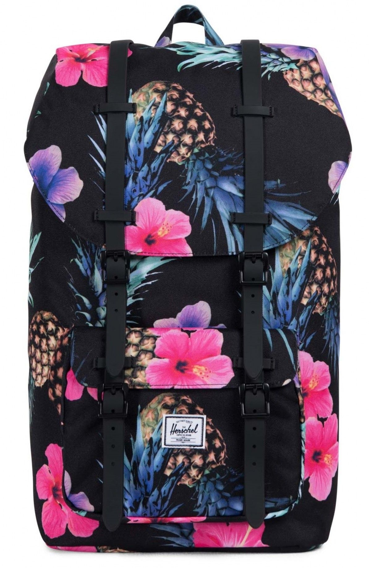 4701a89f78 Herschel Little America Backpack 600D Poly Black Pineapple Black ...