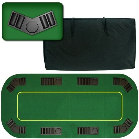Texas Hold Em 80 Inch Poker Table Top With Green Felt Folding Poker Table Poker Table Top Poker Table