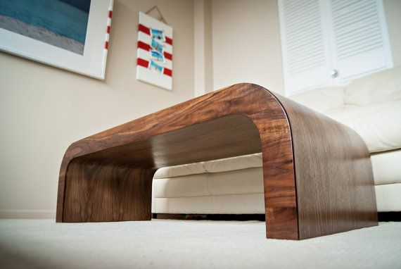 Wood Coffee Table / Walnut Accent Table / Wood TV Stand / Wood Console /  Wood