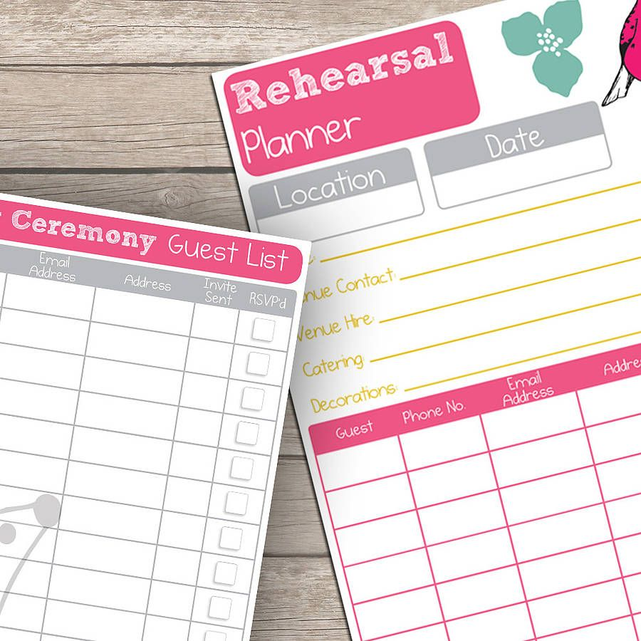 Printable  Page Wedding Planner  Wedding Planners Planners And