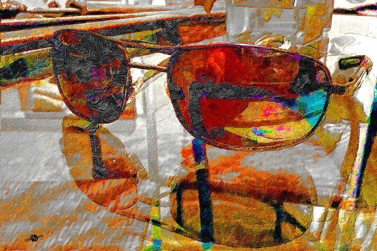 Sunglasses At Night (2017) Mixed-media painting by Tony Rubino