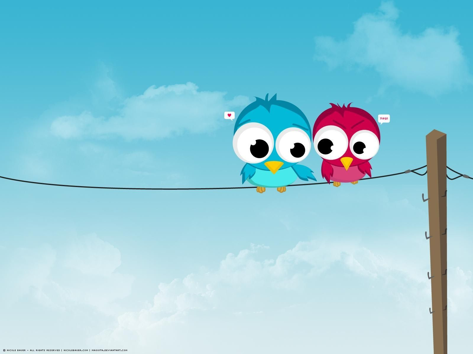 Download cartoon Wallpaper of love birds HD - Free cartoon Wallpaper