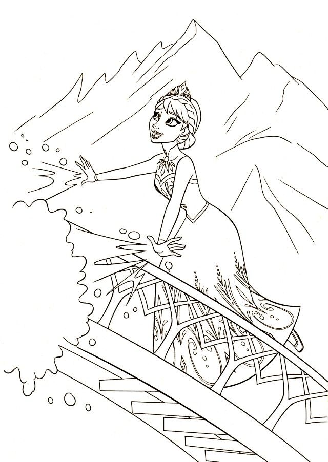 Frozen Coloring Pages Disneys Find This Pin And More