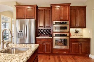 Homecrest Jamison Sorrel Ebony Glaze Homecrest Cabinets Custom Cabinets Traditional Kitchen