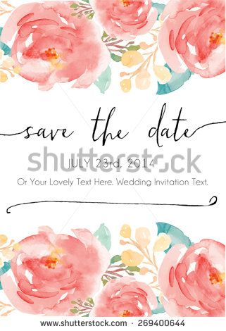 Calligraphy vector save the date watercolor vector invitation calligraphy vector save the date watercolor vector invitation watercolor flowers invitation vector modern stopboris Images