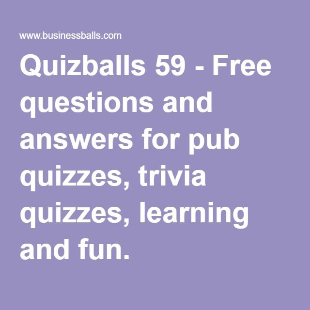 Free Questions And Answers For Pub Quizzes