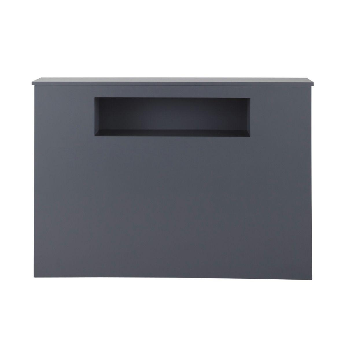 t te de lit grise l 140 cm t tes de lit en bois lit en. Black Bedroom Furniture Sets. Home Design Ideas