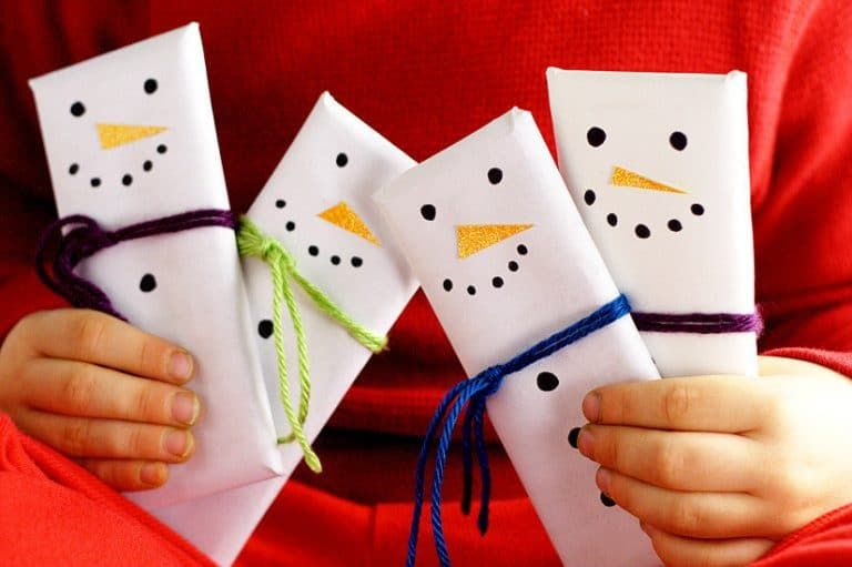 Snowman Candy Bars | DIY Gift Idea
