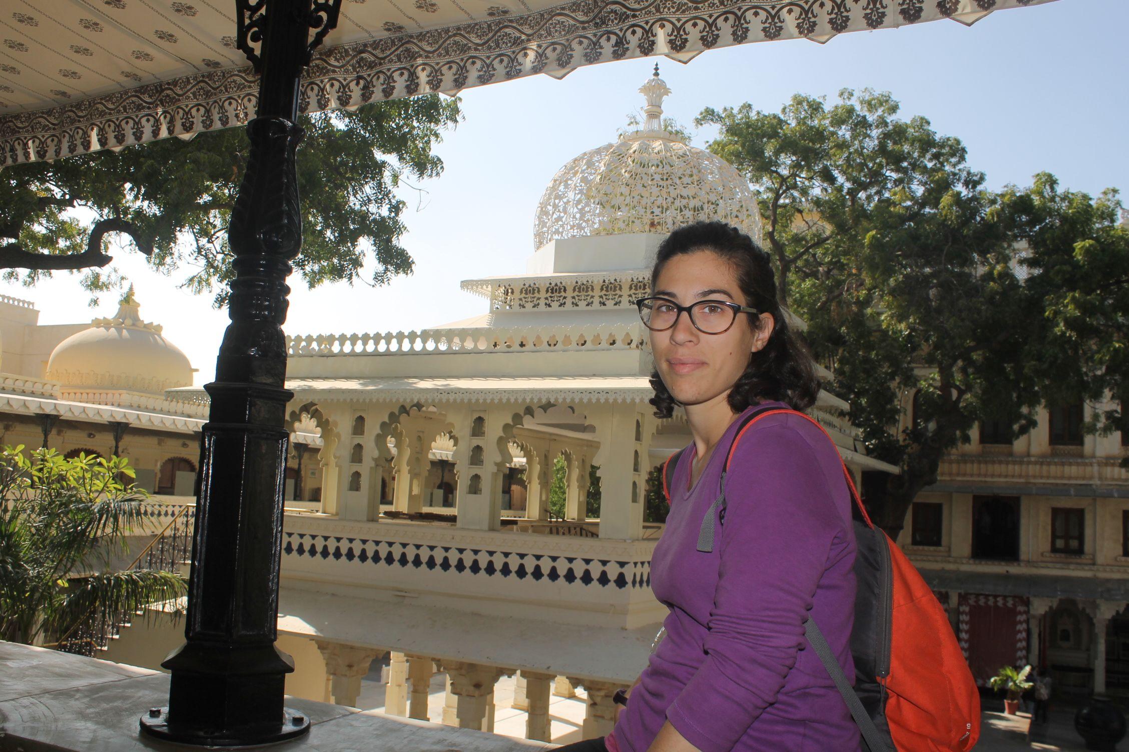 Roser en el city Palace de Udaipur