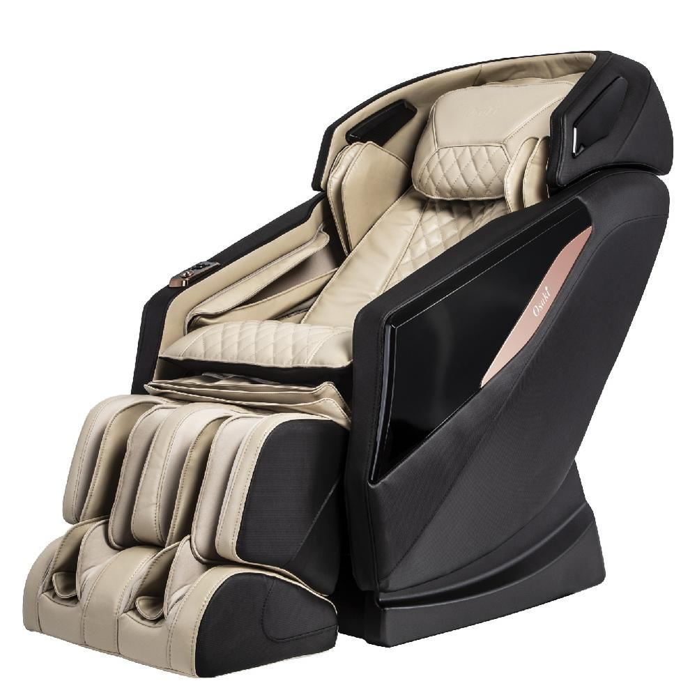 Titan Osaki Os Pro Yamato Faux Leather Reclining Massage Chair In Cream Yamatocr The Home Depot Massage Chair Osaki Massage Chairs