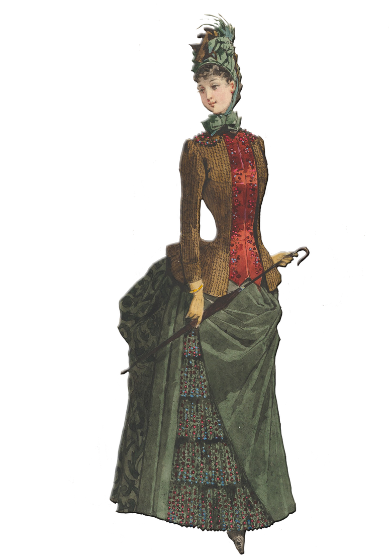 Free Fashion Sketch Of A Day Dress As Worn In The 1800 S Fashion Vintage Fashion Sketches Fashion Sketches [ 1114 x 774 Pixel ]