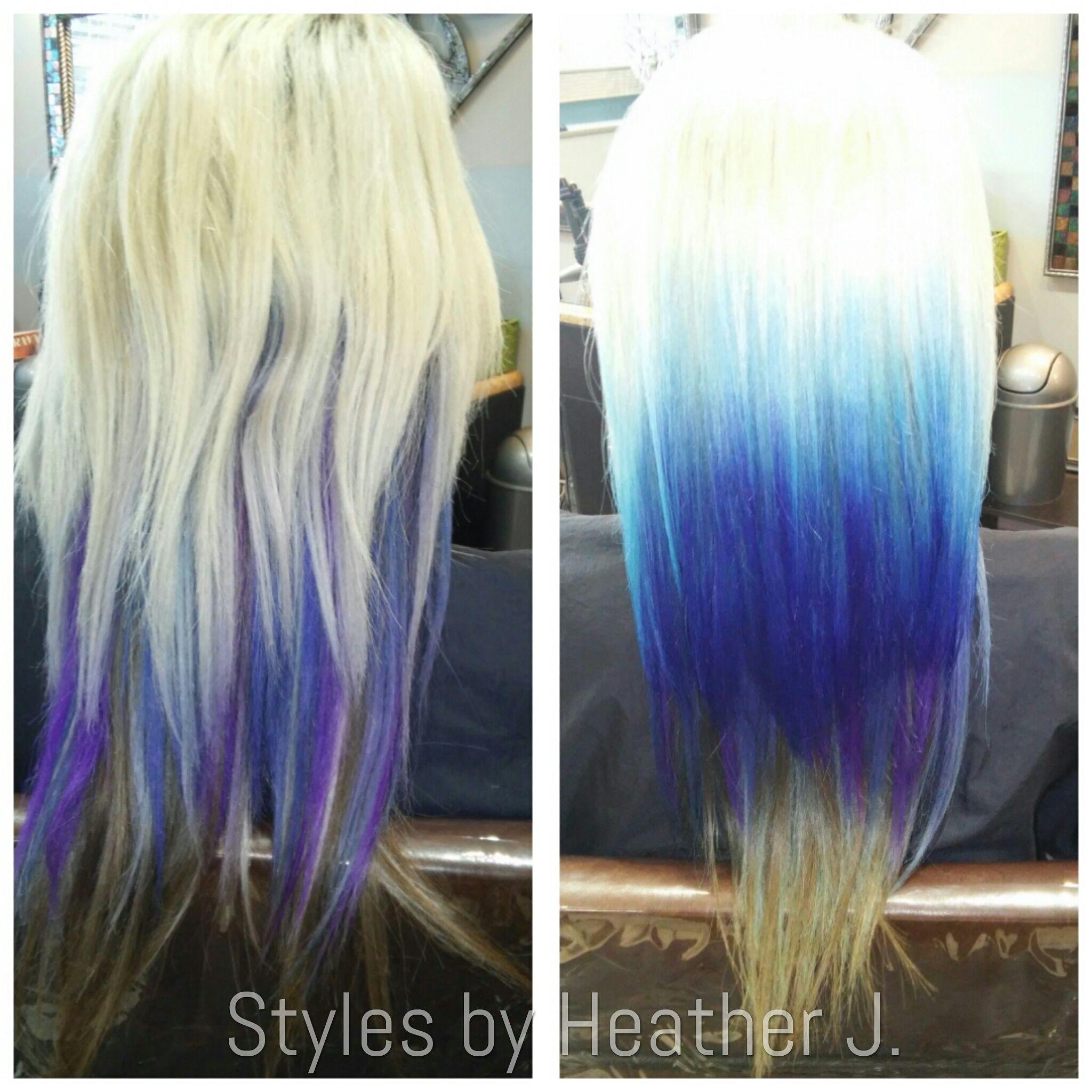 Dreamcatchers hair extensions plus pravana vivids in shades of dreamcatchers hair extensions plus pravana vivids in shades of blue is how you achieve this platinum pmusecretfo Gallery