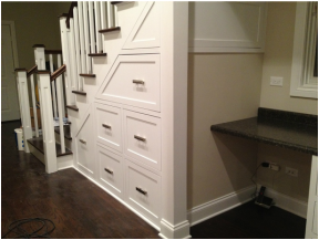 Desk Under Stairs custom built-in drawers/desk under the stairs. | for the home