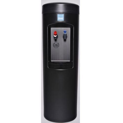 clover b7b room temp and cold bottleless water cooler with install kit and filter black