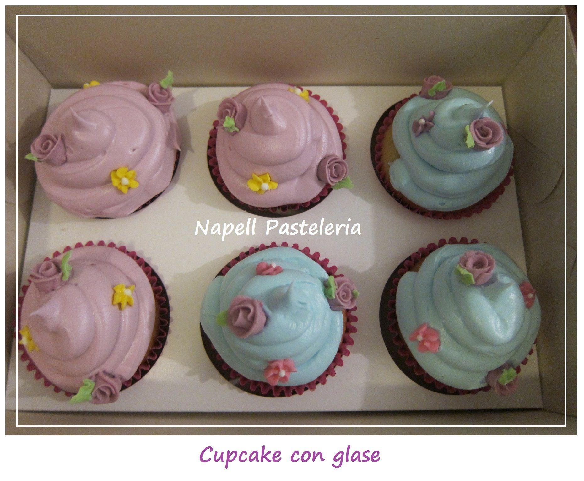 Cupcakes con glase