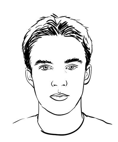 How to draw a face male sketchbook challenge 24