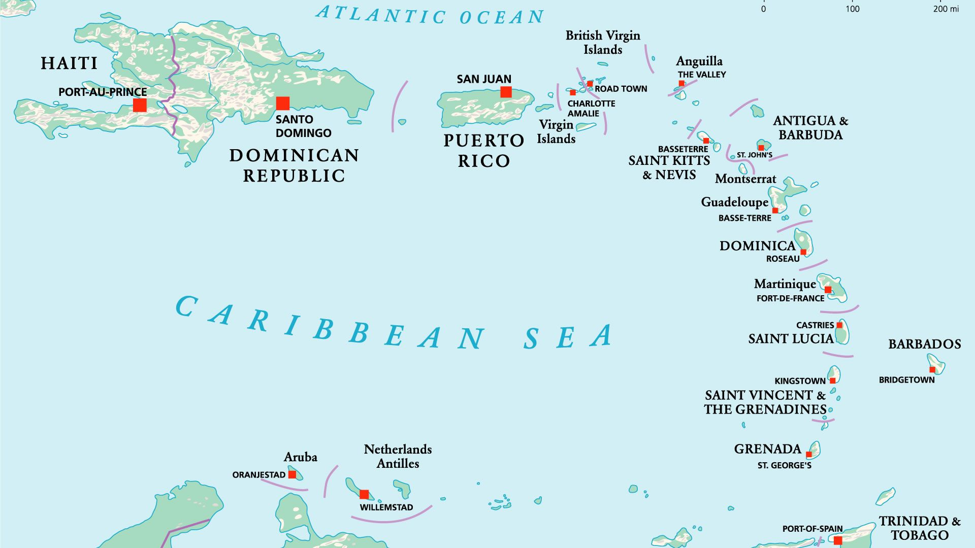 Mapa de América Central insular | Mapa de america, América central ...