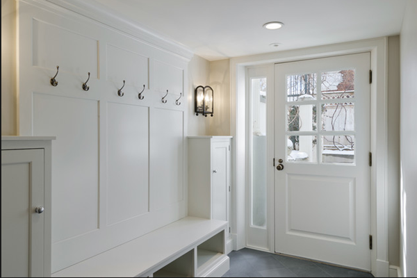 Beautiful White Paint From Valspar Bistro White In Mudroom