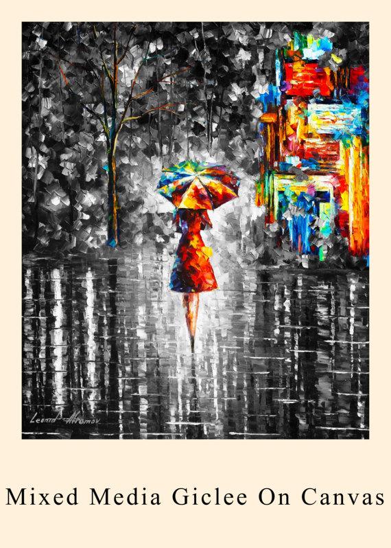 GICLEE OP DOEK RECHTSTREEKS VANUIT DE BEROEMDE KUNSTENAAR LEONID AFREMOV  Titel: Regen prinses Grootte: variabel Voorwaarde: Uitstekende Brand new Type: Giclee op katoen canvas  Deze giclee wordt gemaakt in de volgende procedure. het is een hoge kwaliteit afdruk op katoen canvas. Vervolgens de kunstenaar neemt een borstel en voegt lijnen bovenop de print diepte en textuur geven net als het originele schilderij  Hier koopt u direct van de kunstenaar. Ondertekend door de kunstenaar…
