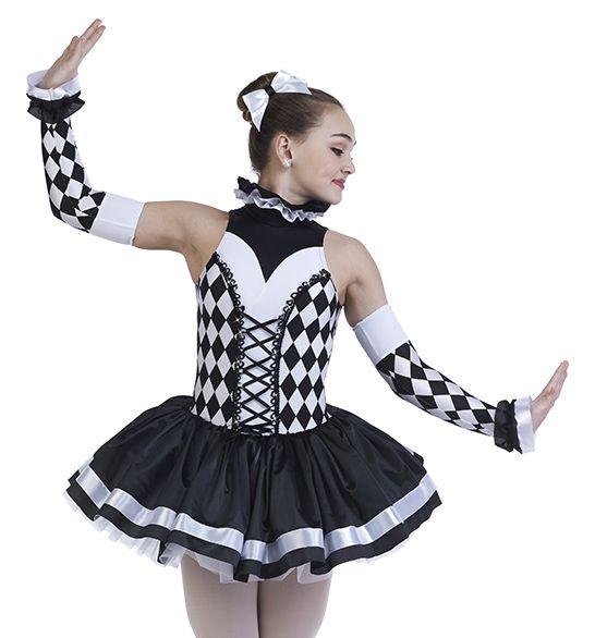 c4610bdc5 Harlequin Dance Costume & 1st Position Harlequin Stripe Clown Tutu ...