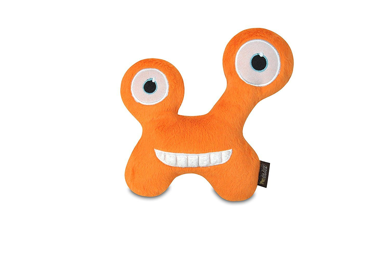 P L A Y Pet Lifestyle And You Monster Toy Collection Chatterbox Monster With Squeaker Pet Toy Orange Visit The Image Lin Plush Dog Toys Dog Toys Pet Toys