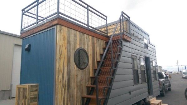 Best Tiny House On Wheels With Rooftop Access Read More At Http Tinyhousetalk Com Tiny House On 640 x 480