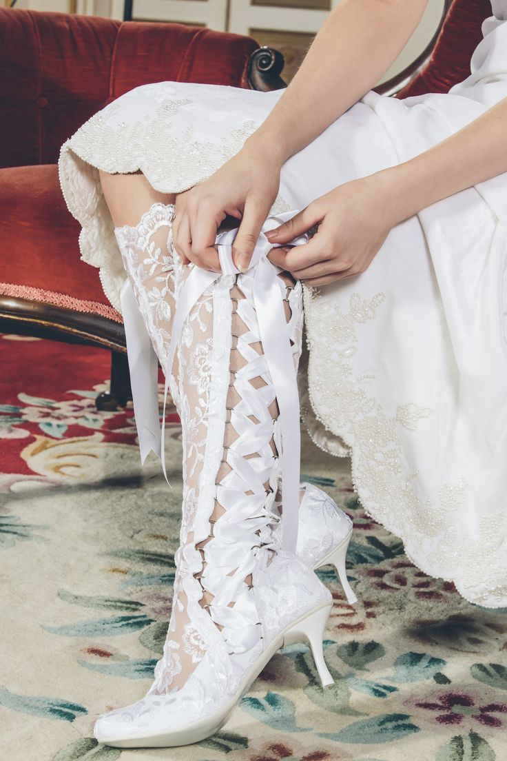 Vintage Lace Wedding Boots And Shoes