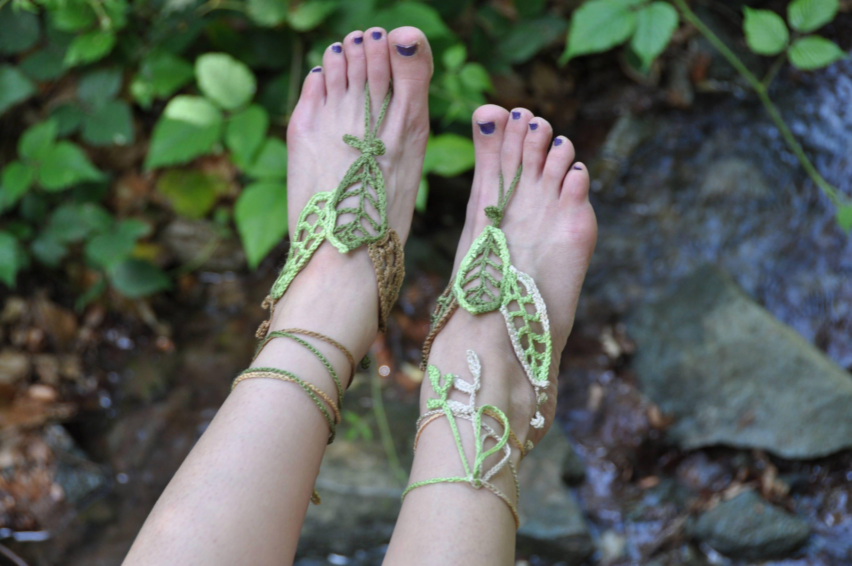 Crochet Barefoot Sandals Crochet Sandals Barefoot Sandals Hippie