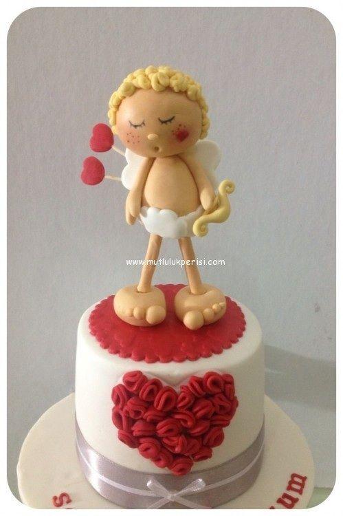 Valentine S Day Fondant Cake Valentines Day Cakes