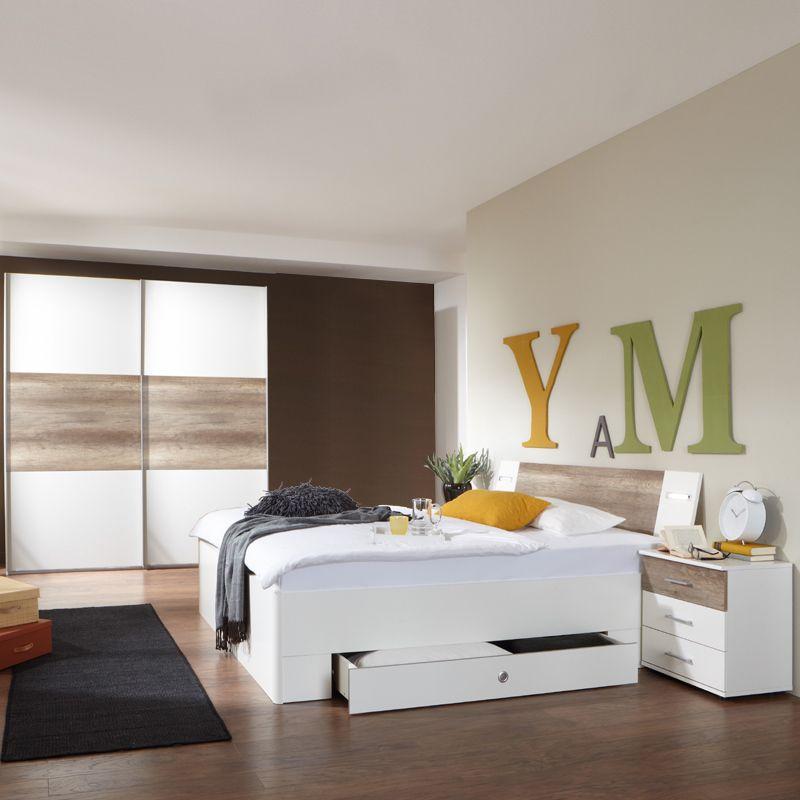 Schlafzimmerset 4-tlg »MODEO« alpinweiß - Wildeiche Jetzt bestellen