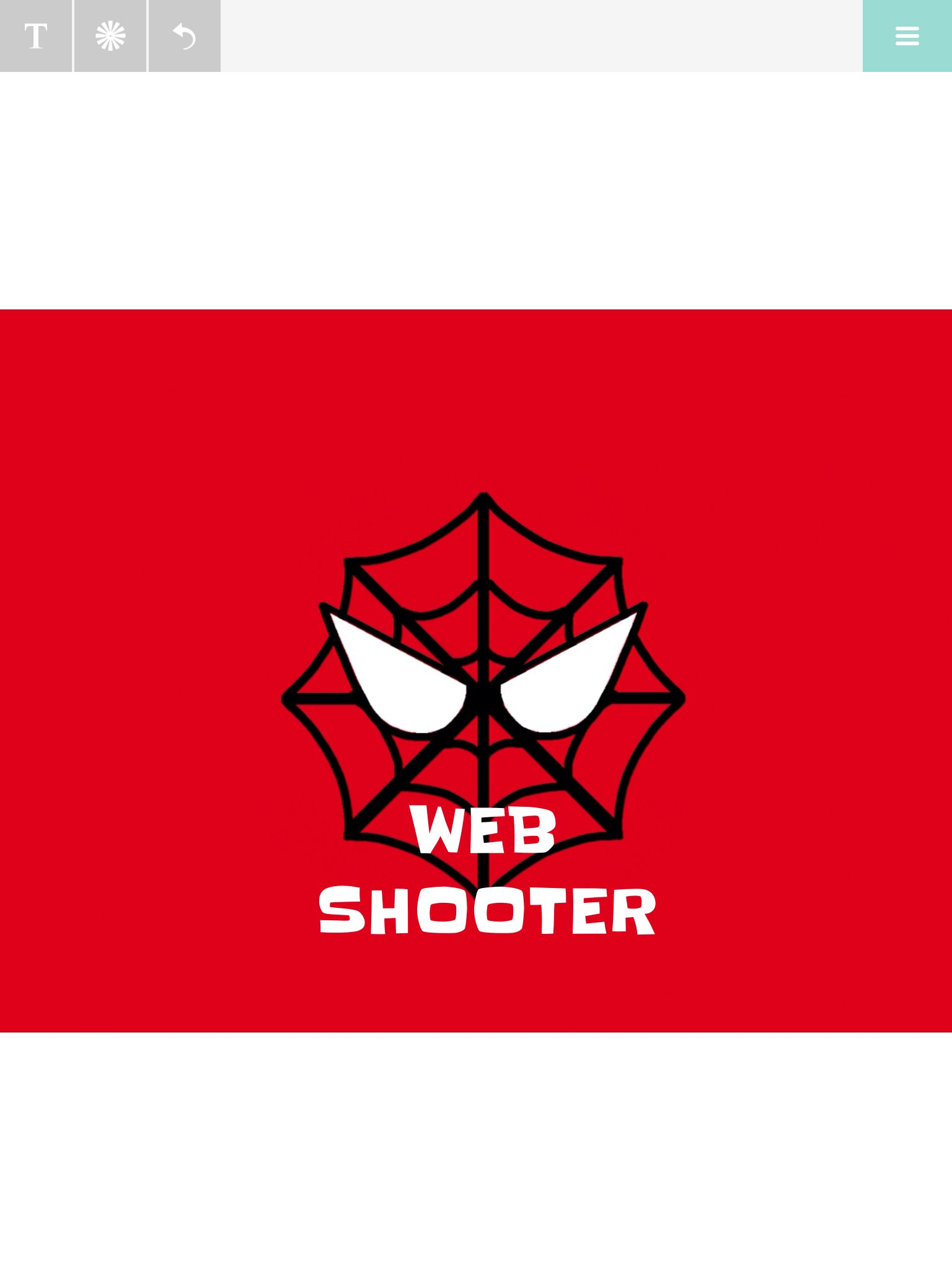 Web Shooter Superhero Silly String Label