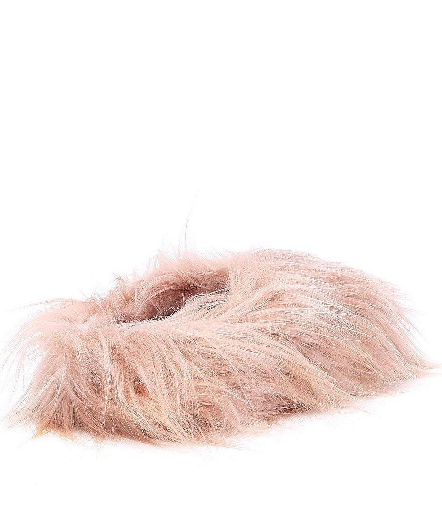best service 183da cc735 Steve Madden Pink Womens Fuzzy Slipper- womens PINK fuzzy furry slip-on  slippers.
