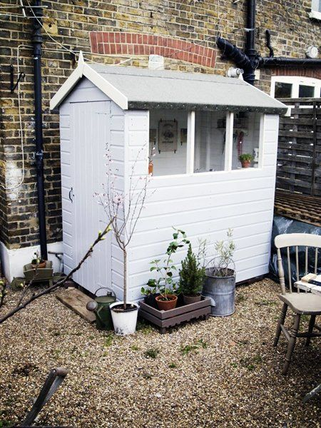 Before U0026 After: Artemisu0027 Tiny Garden Shed Makeover