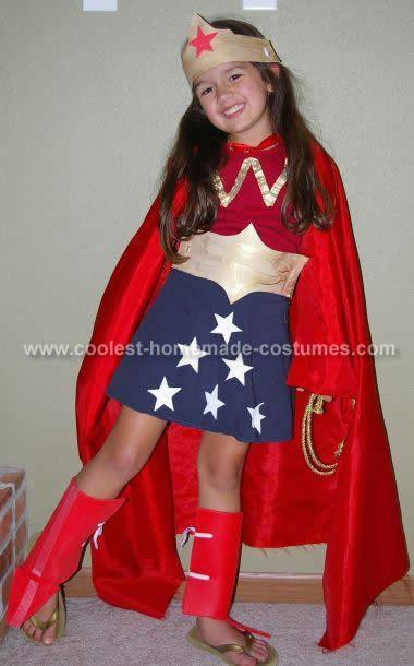 Wonder Woman Costume. Love the skirt look vs. the leotard bottom!