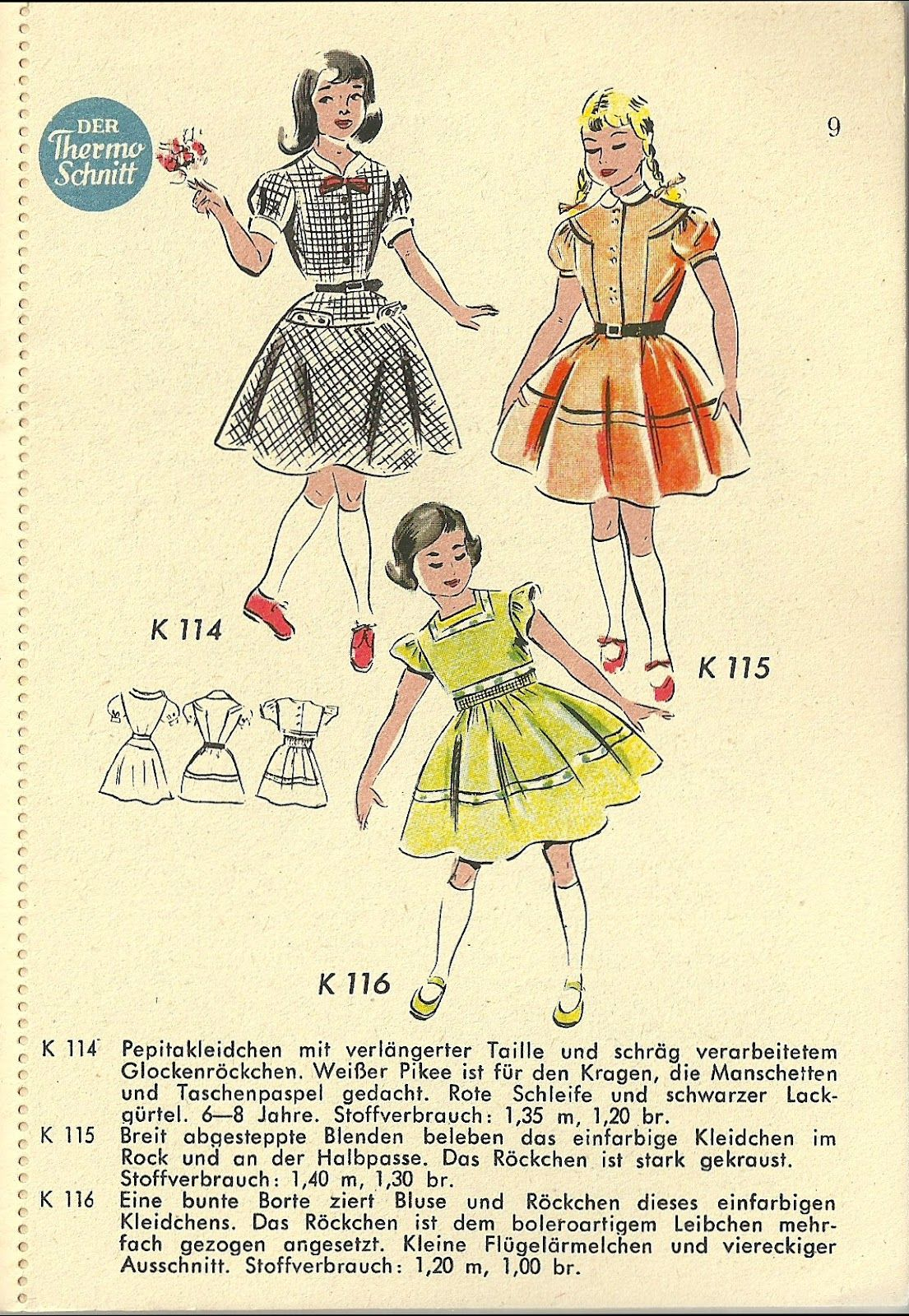 The Hausfrau Journal: 1950s Children's Fashions from East ...
