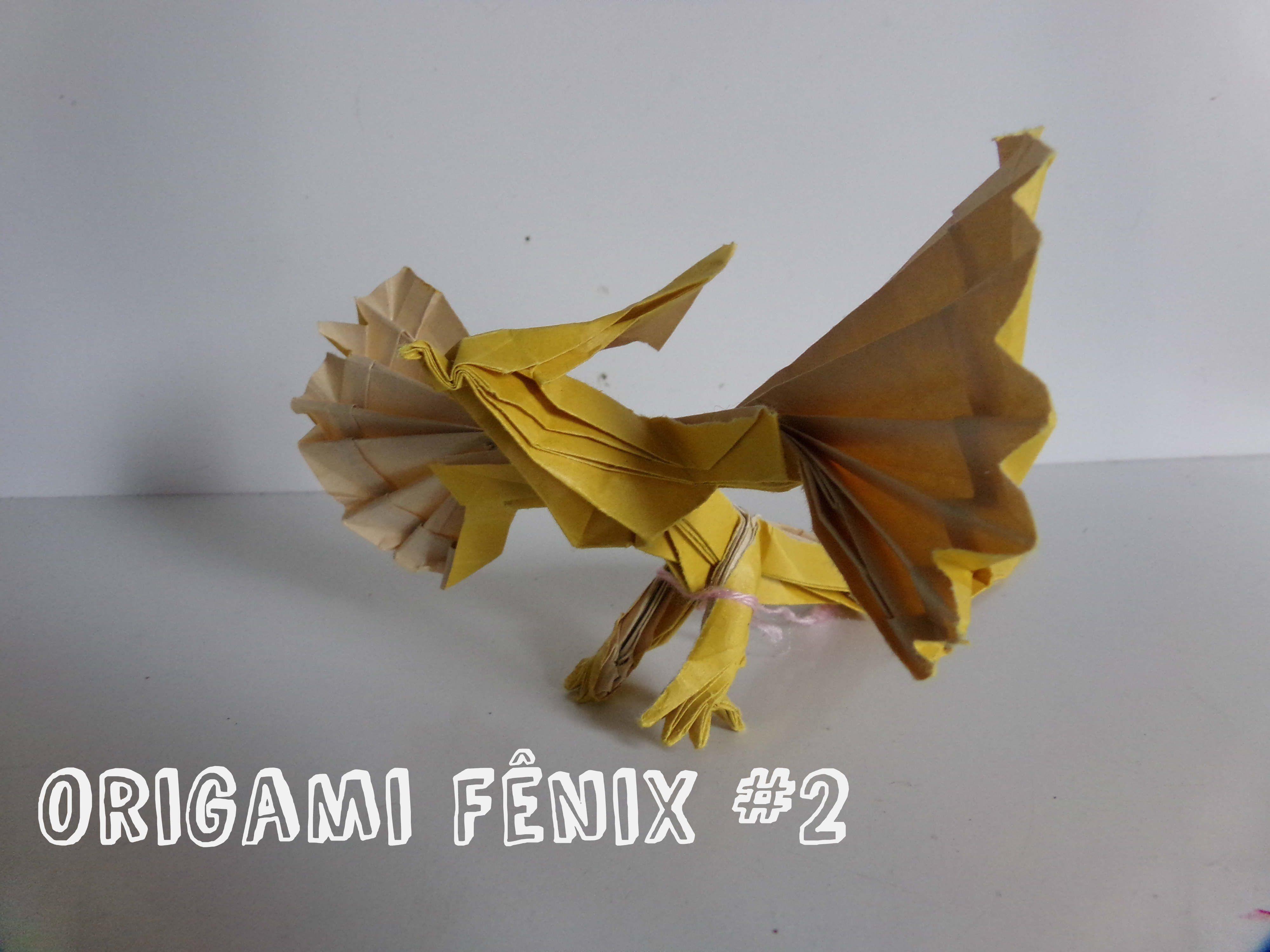Origami Fenix 2 Origamis Complexos Phoenix Hongyi Wan