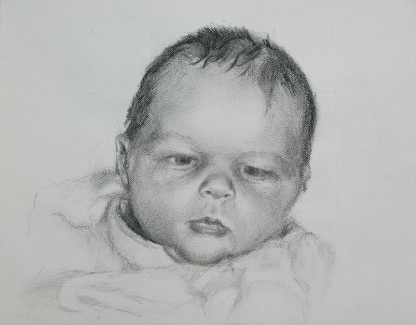 Realistic Baby Drawing   Sketch painting, Baby drawing ...