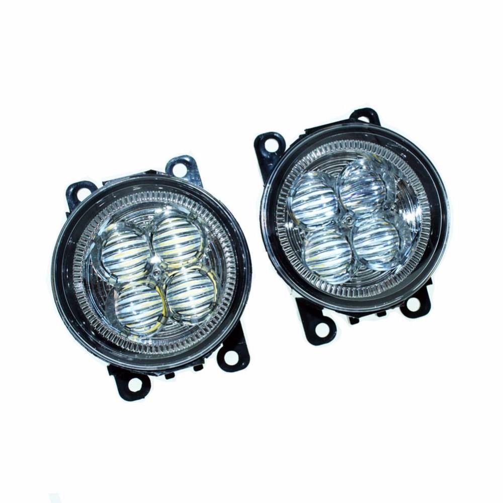 Car styling front bumper led fog lights high brightness drl driving car styling front bumper led fog lights high brightness drl driving fog lamps 1set for lincoln aloadofball Image collections