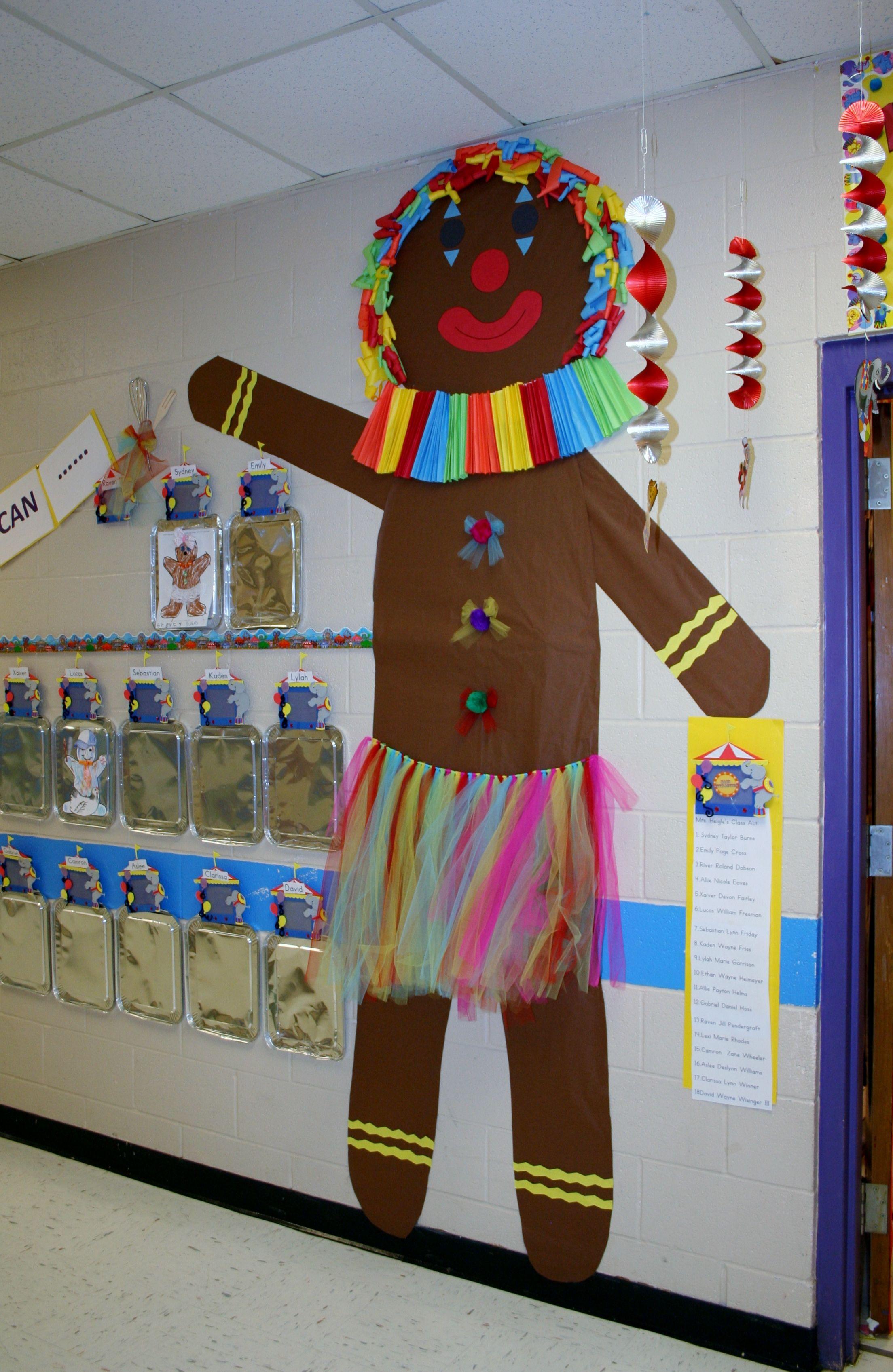 Gingerbread Man Classroom Hallway Decoration Gingerbread Unit