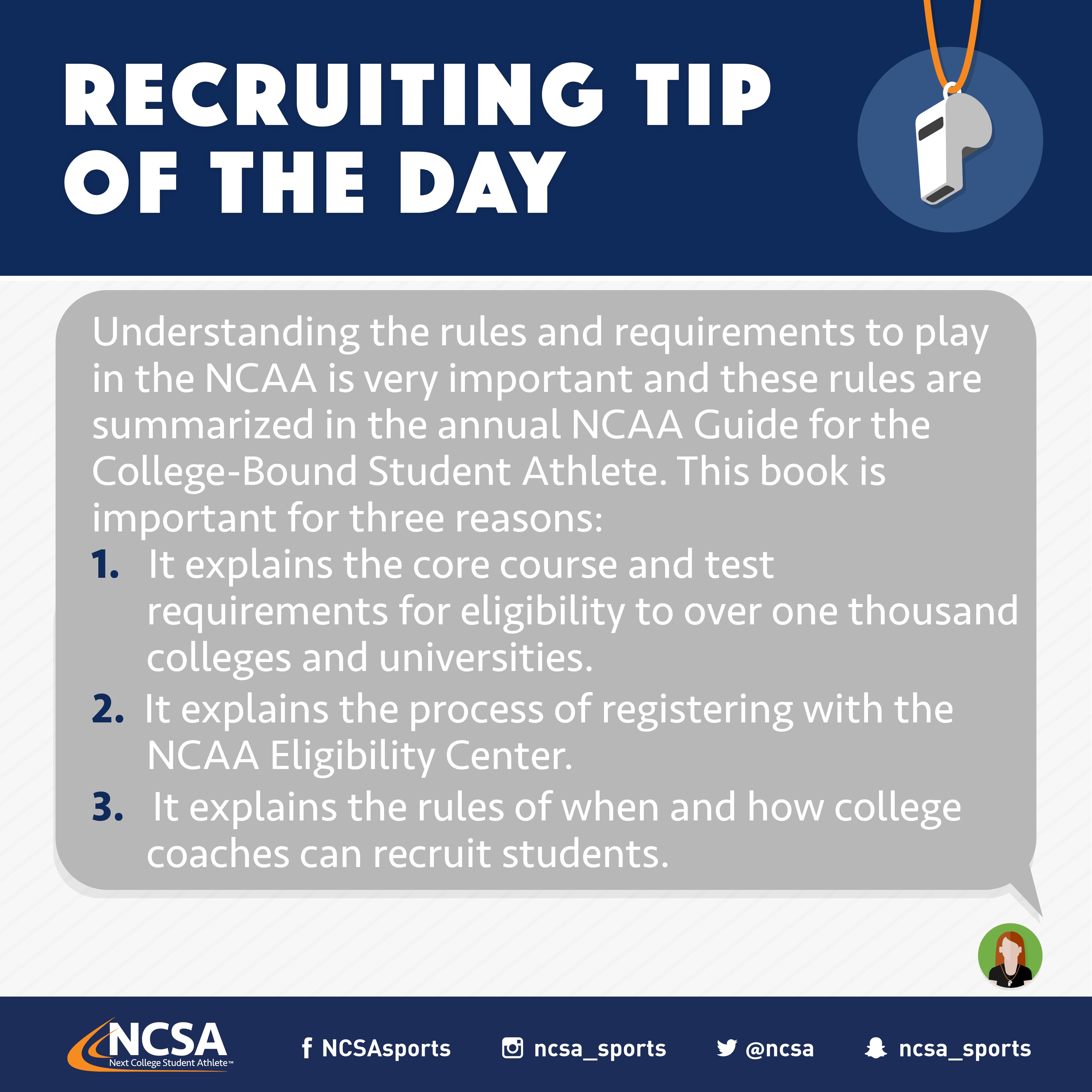 NCSA RecruitingTipOfTheDay RecruitingTips Good grades