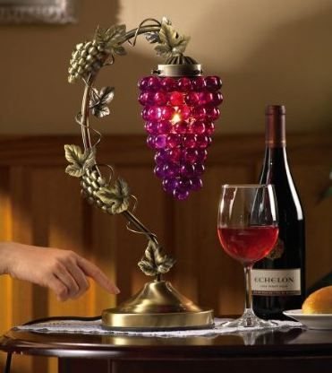 Grapevine desk table touch lamp