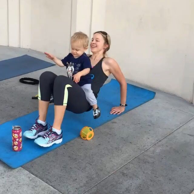 Triceps with toddler