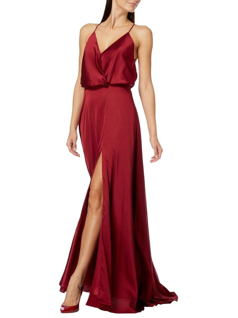 Abendkleid mit Stola  Abendkleid, Abendkleid dunkelrot, Kleider