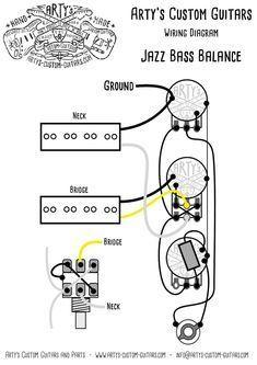 J-Bass PU-Balance Prewired Kit Jazz Bass #customguitars