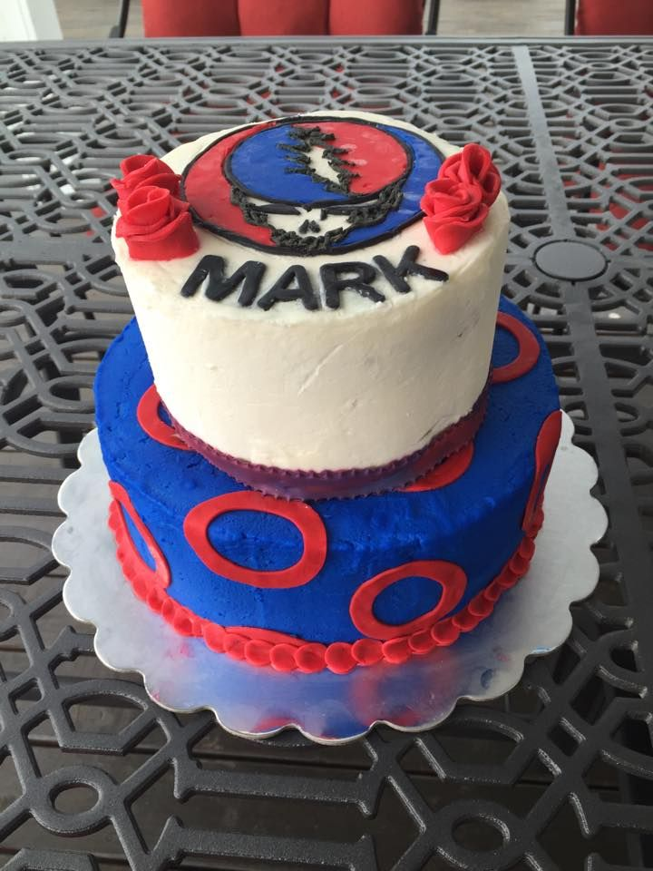 Grateful Dead Phish Birthday Cake Steal Your Face