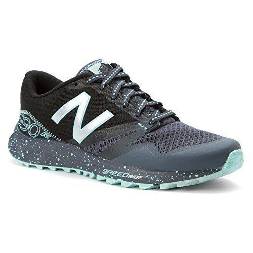 New Balance Women's WT690V1 Trail Shoe, Thunder/Artic/Blue, 7 B US