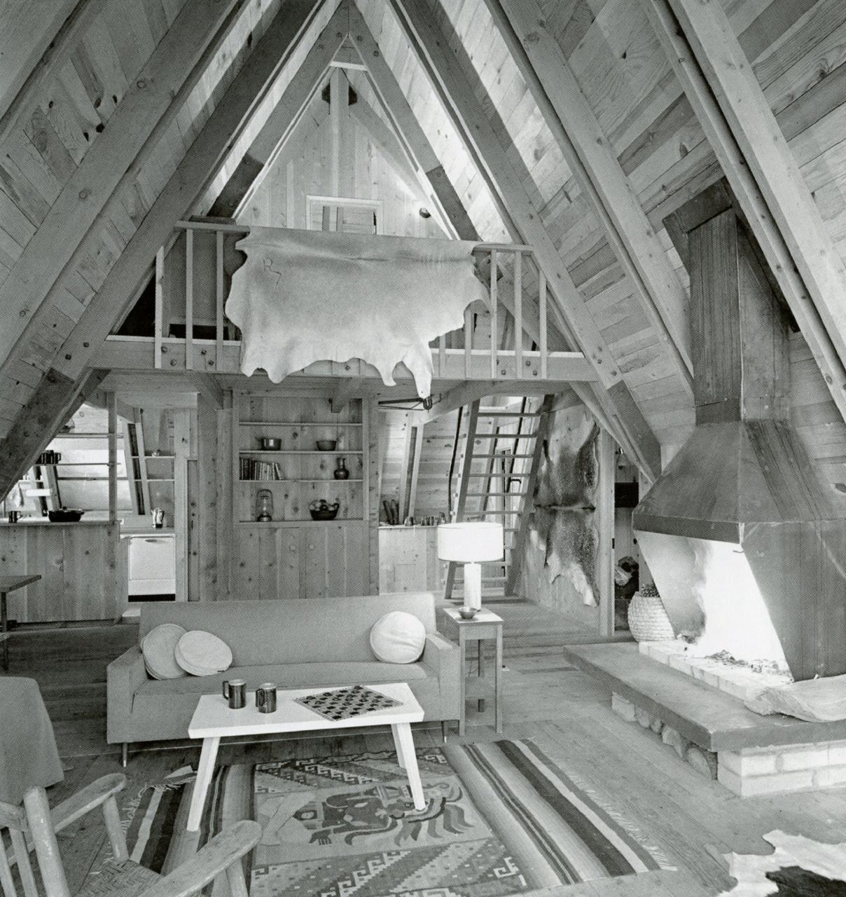 Perfect a frame interior a frame empire pinterest for A frame cabin interior