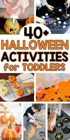 Halloween Activities for Toddlers - #halloweenactivities