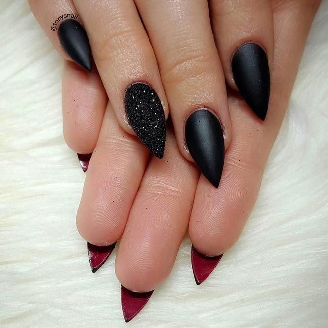 ff03a707dea03 30 Best Designs For Short Stiletto Nails That Will Catch Your Eye ...